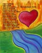 Scripture art postcard by artist Angie Young