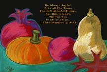 Thanksgiving postcard by artist Angela Young