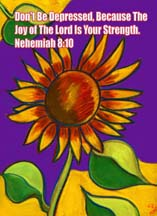 Sunflower postcard by artist Angie Young