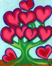 The Heart Tree by artist Angie Young